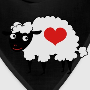 Brown sheep with love heart T-Shirts - Bandana