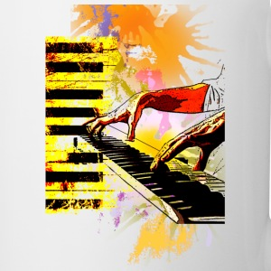 Piano Tshirt - Coffee/Tea Mug