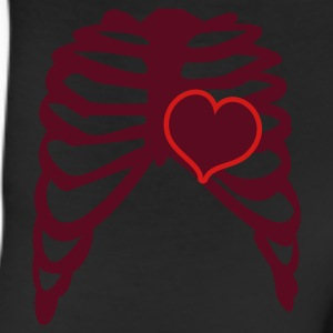 Brown rib cage with love heart T-Shirts - Leggings