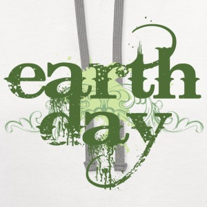 Earth Day tee shirt - Contrast Hoodie
