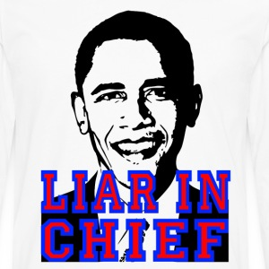 White Obama Liar in Chief T-Shirts - Men's Premium Long Sleeve T-Shirt