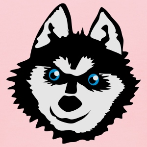 Gold Siberian husky face with a huge smile cute! T-Shirts - Kids' Hoodie