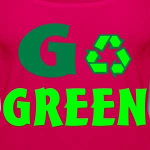 Hot pink go green Kids' Shirts - Women's Premium Tank Top