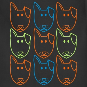 Brown nine dogs andy warhol style T-Shirts - Adjustable Apron