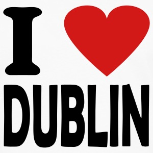 White i love dublin T-Shirts - Men's Premium Long Sleeve T-Shirt
