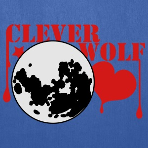 Navy clever wolf werewolf shirt T-Shirts - Tote Bag