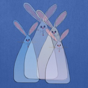 Four Transperant Easter Bunnies - Tote Bag