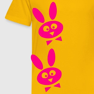 Yellow bunny Kids' Shirts - Toddler Premium T-Shirt