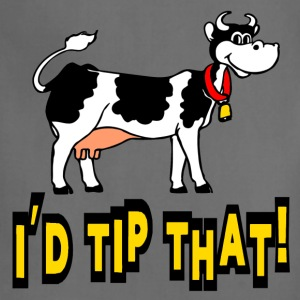 Kelly green I'd Tip That Cow Tipping T-Shirts - Adjustable Apron