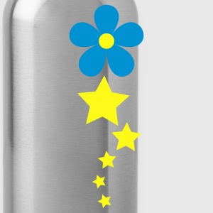 Heather grey flower and pretty stars in a line T-Shirts - Water Bottle
