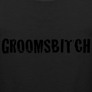 Black groomsbitch - groomsman groom groomsmen T-Shirts - Men's Premium Tank