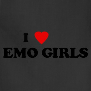 I heart emo girls - Adjustable Apron