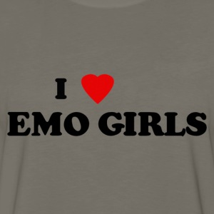 I heart emo girls - Men's Premium Long Sleeve T-Shirt