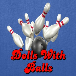 Royal blue Bowling Team Dolls With Balls T-Shirts - Tote Bag