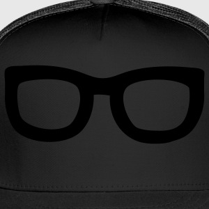 Black nerd glasses T-Shirts - Trucker Cap
