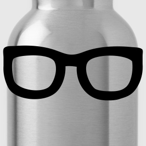 Black nerd glasses T-Shirts - Water Bottle