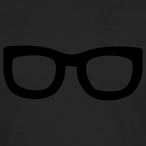 Black nerd glasses T-Shirts - Men's Premium Long Sleeve T-Shirt