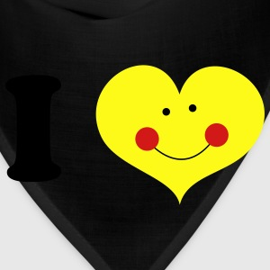 Gold i heart with cute smile and rosy cheeks T-Shirts - Bandana