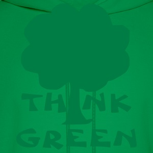 Kelly green think green T-Shirts - Men's Hoodie