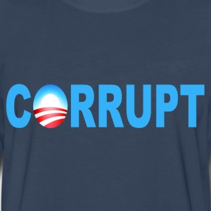 Navy Obama Corrupt T-Shirts - Men's Premium Long Sleeve T-Shirt