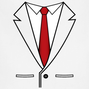 Business Suit with Red Tie - Adjustable Apron