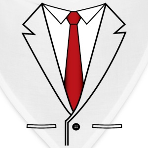 Business Suit with Red Tie - Bandana