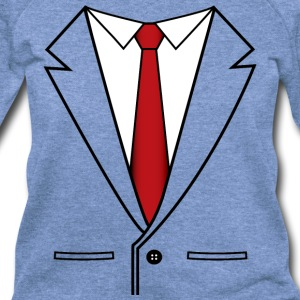 Business Suit with Red Tie - Women's Wideneck Sweatshirt