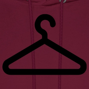 Burgundy clothes hanger-clothing T-Shirts - Men's Hoodie