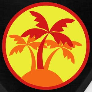 Brown palm trees in a circle travel island on a beach ! T-Shirts - Bandana