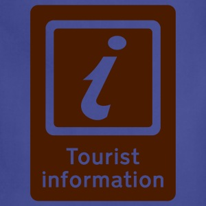 Royal blue Tourism - Tourist Information T-Shirts - Adjustable Apron