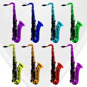 colored saxophones - Bandana