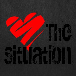 White Love the Situation T-Shirts - Tote Bag
