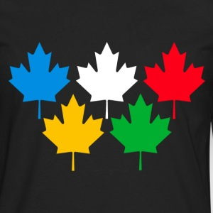 Black Canada Maple Leaves T-Shirts - Men's Premium Long Sleeve T-Shirt
