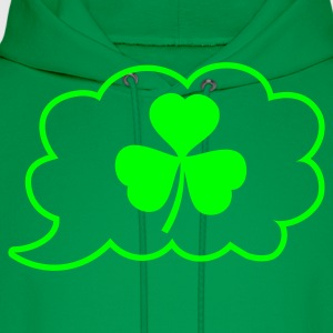 Kelly green speech bubble clover St Patricks Day Tribute T-Shirts - Men's Hoodie