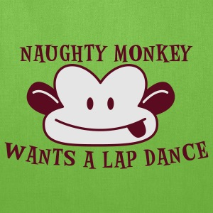 Forest green RUDE naughty monkey wants a lap dance T-Shirts - Tote Bag