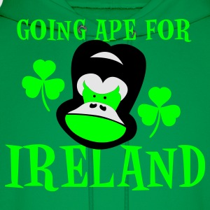 Kelly green going ape for ireland gorilla face St Patricks Day Tribute T-Shirts - Men's Hoodie