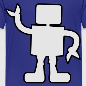 Turquoise robot outline two color sabotage Kids' Shirts - Toddler Premium T-Shirt