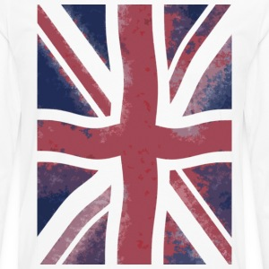 White grunge flag T-Shirts - Men's Premium Long Sleeve T-Shirt