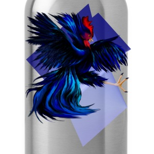 Black Fighting Rooster - Water Bottle