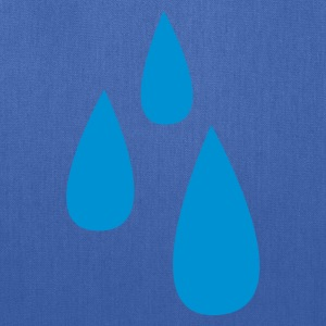 Royal blue droplets dripping tears tear drop T-Shirts - Tote Bag