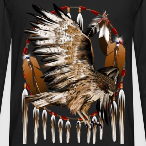 Flying Hawk Dreamcatcher - Men's Premium Long Sleeve T-Shirt