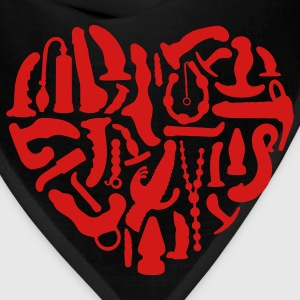 Red Sex Tools Heart Plus Size - Bandana