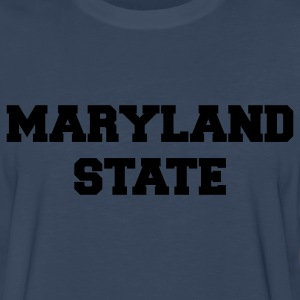 Navy maryland state T-Shirts - Men's Premium Long Sleeve T-Shirt