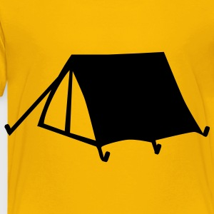 Yellow Camping - Tent Kids' Shirts - Toddler Premium T-Shirt