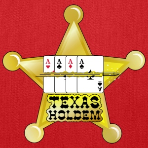 Burgundy texas holdem shooting star (DDP) T-Shirts - Tote Bag