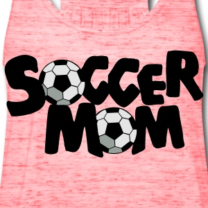 Gold SOCCER MOM football mother T-Shirts - Women's Flowy Tank Top by Bella