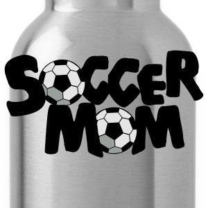 Gold SOCCER MOM football mother T-Shirts - Water Bottle