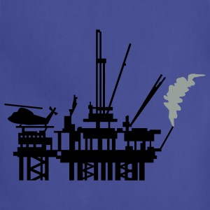 Royal blue offshore oil rig (2c) T-Shirts - Adjustable Apron