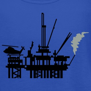 Royal blue offshore oil rig (2c) T-Shirts - Women's Flowy Tank Top by Bella