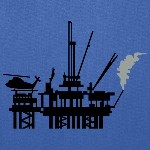 Royal blue offshore oil rig (2c) T-Shirts - Tote Bag